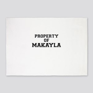 Property of MAKAYLA 5'x7'Area Rug